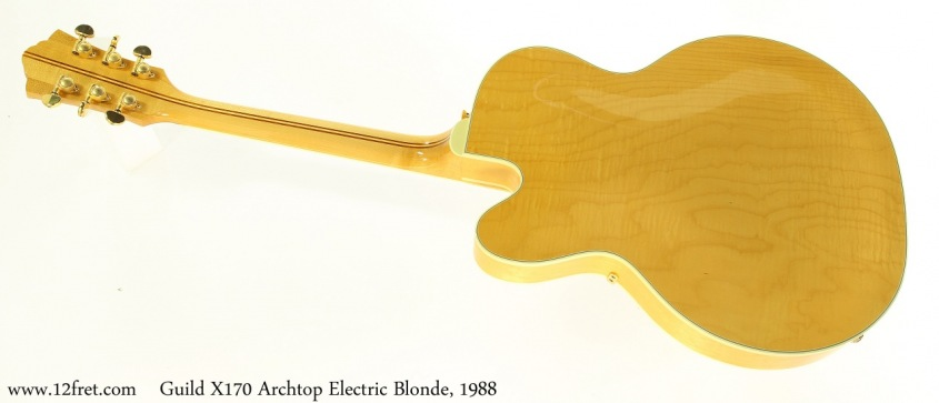 Guild X170 Archtop Electric Blonde, 1988 Full Rear View