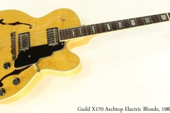 Guild X170 Archtop Electric Blonde, 1988 Full Front View