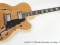 Guild X-175 Blonde Manhattan Archtop 1977 full front view