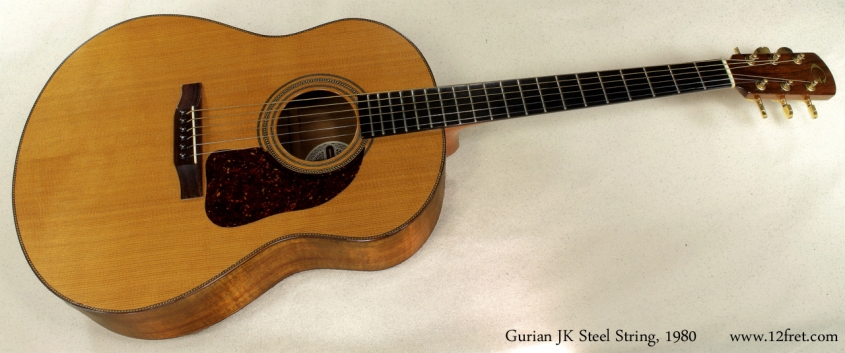 Gurian JK Steel String Koa 1980 full front view