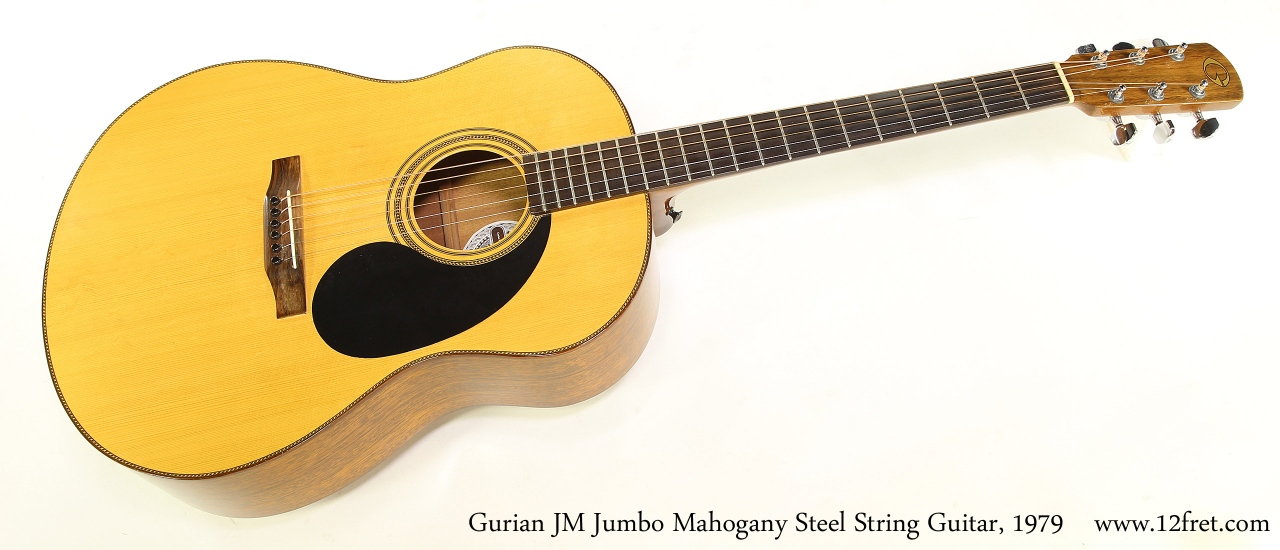 Gurian JM Jumbo Mahogany Steel String Guitar, 1979 Full Front View