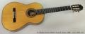 G V Rubio Torres Model Classical Guitar, 1996 Full Front View