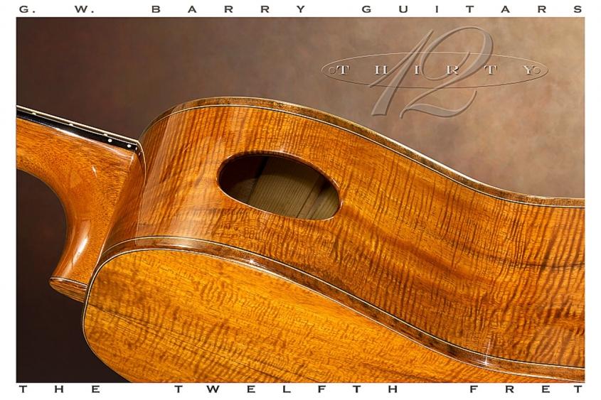 G W Barry 30-12 Koa 000+ Steel String Guitar 2016 Soundport View