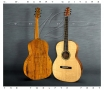 G W Barry 30-12 Koa 000+ Steel String Guitar 2016  Front and Back Close