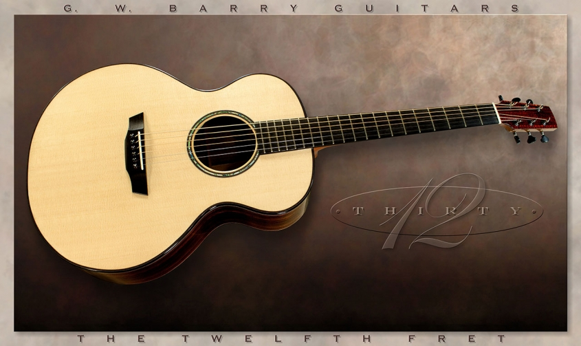 G. W. Barry 30-12 Mod C Ziricote Full Front View