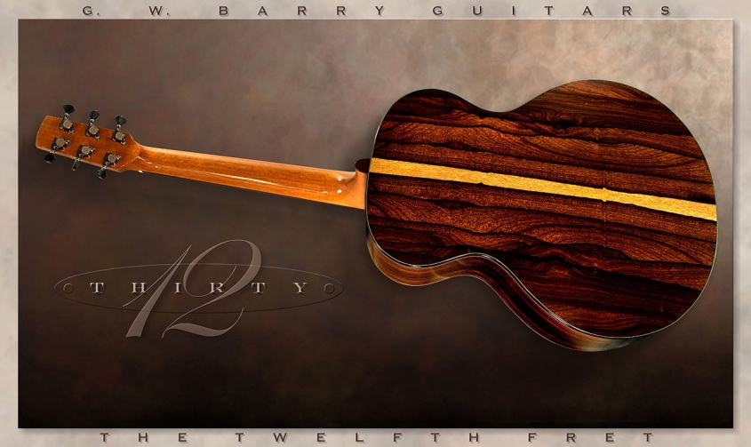 G. W. Barry 30-12 Mod C Ziricote Full Rear View