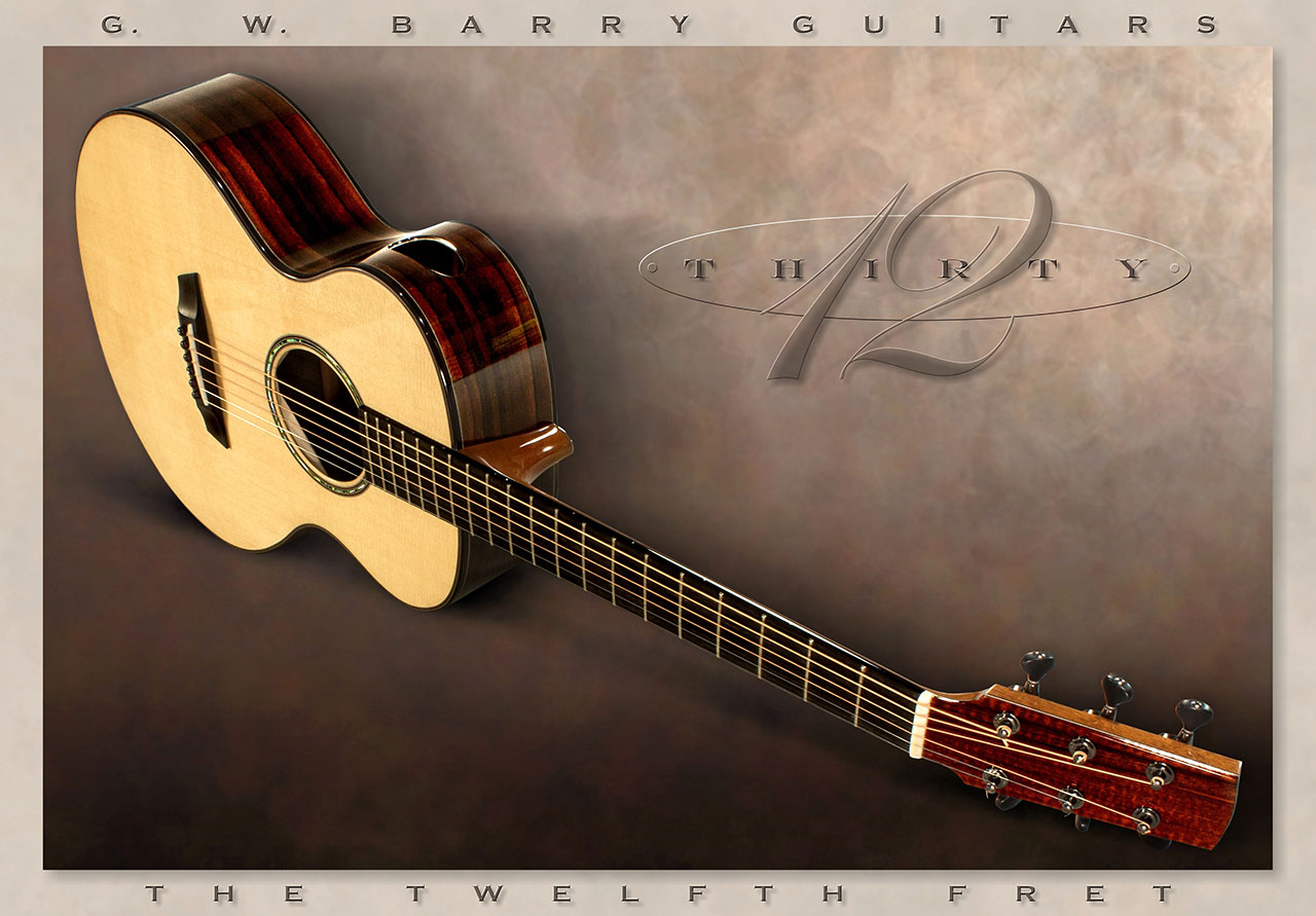 G. W. Barry 30-12 Mod C Ziricote Angle View