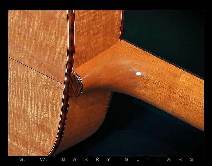 G. W. Barry Hand Built Guitars Heel