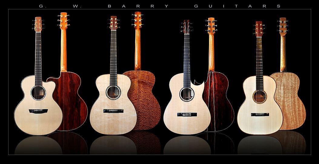 G. W. Barry Hand Built Guitars Grouping