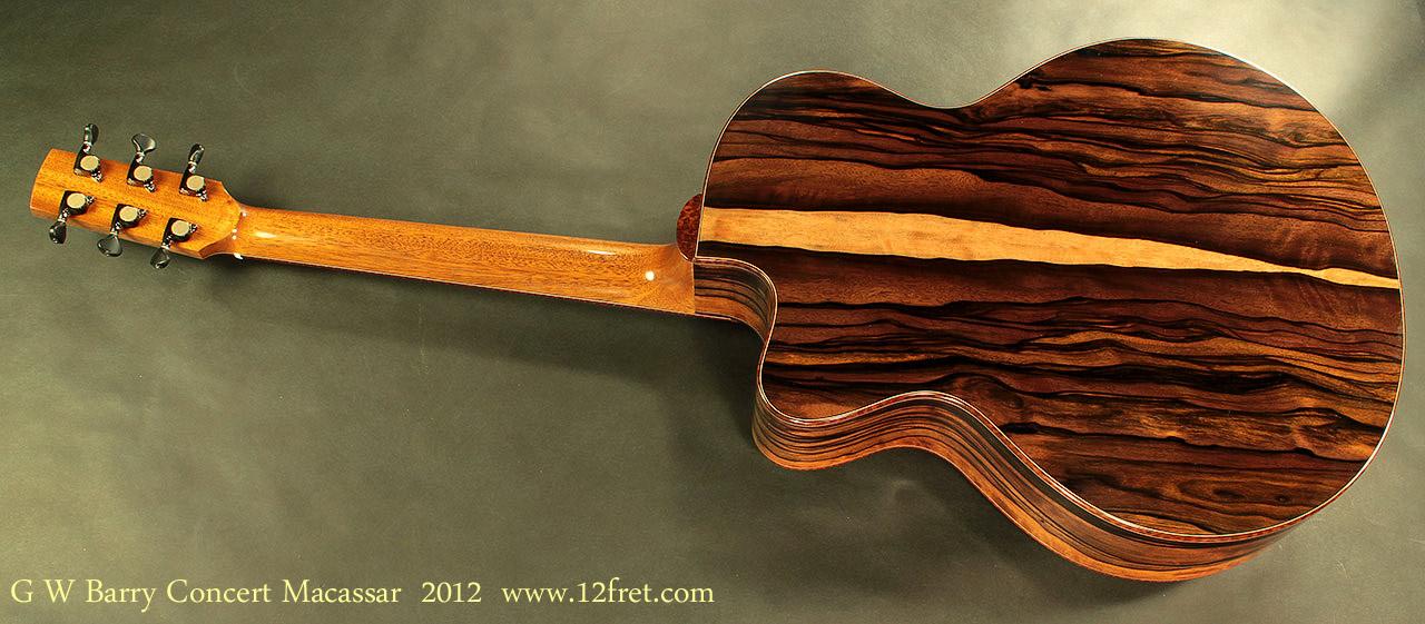 G. W. Barry Hand Built Guitars Macassar Rear View