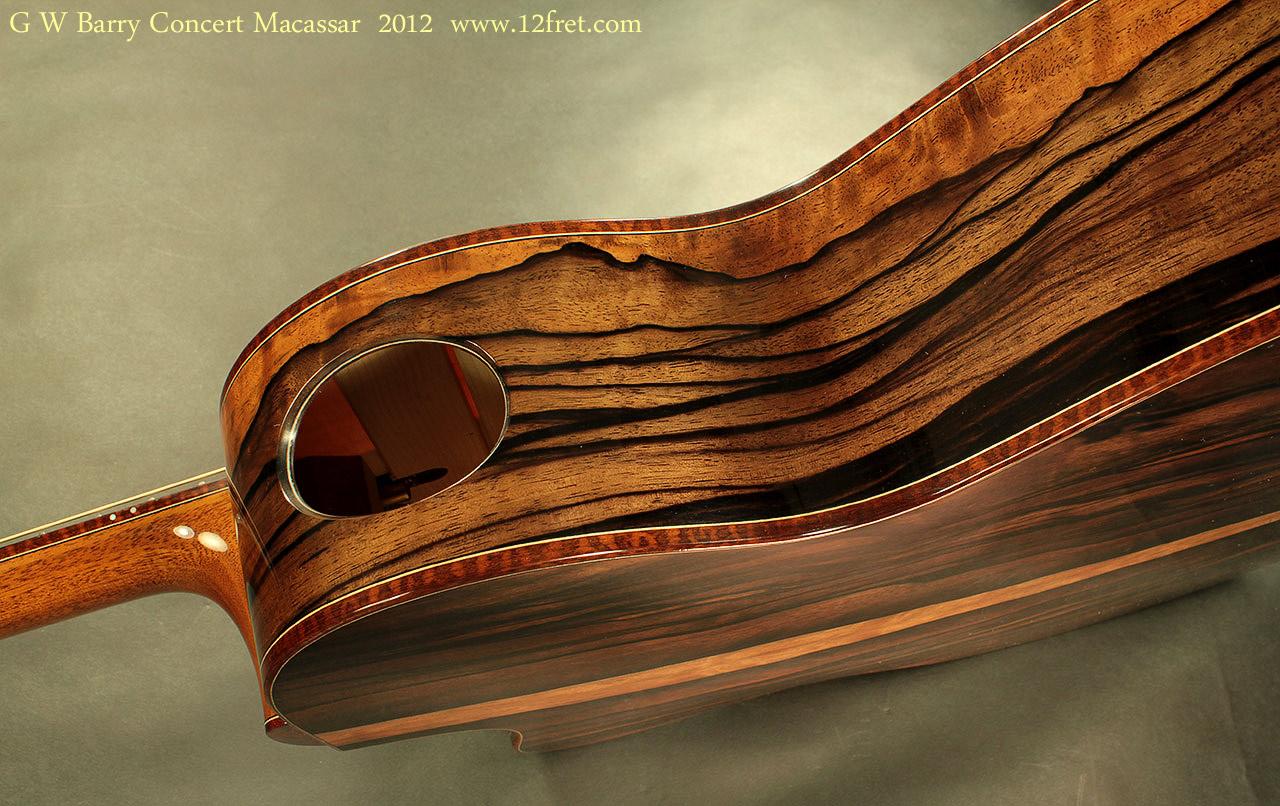 G. W. Barry Hand Built Guitars Macassar Side