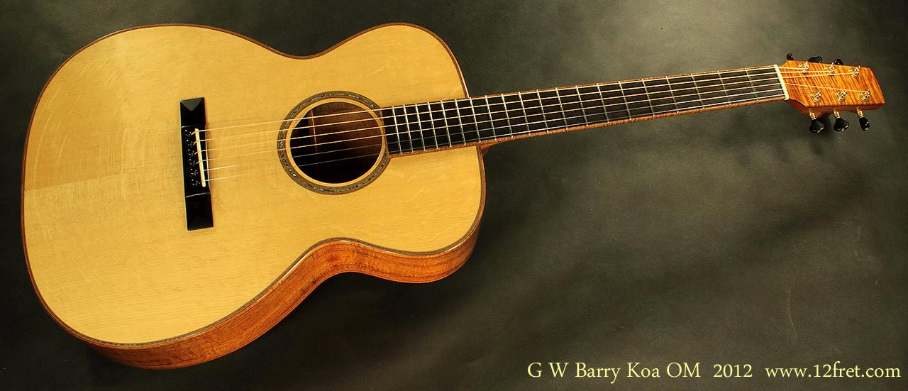 G. W. Barry Hand Built Guitars OM Koa Front VIew