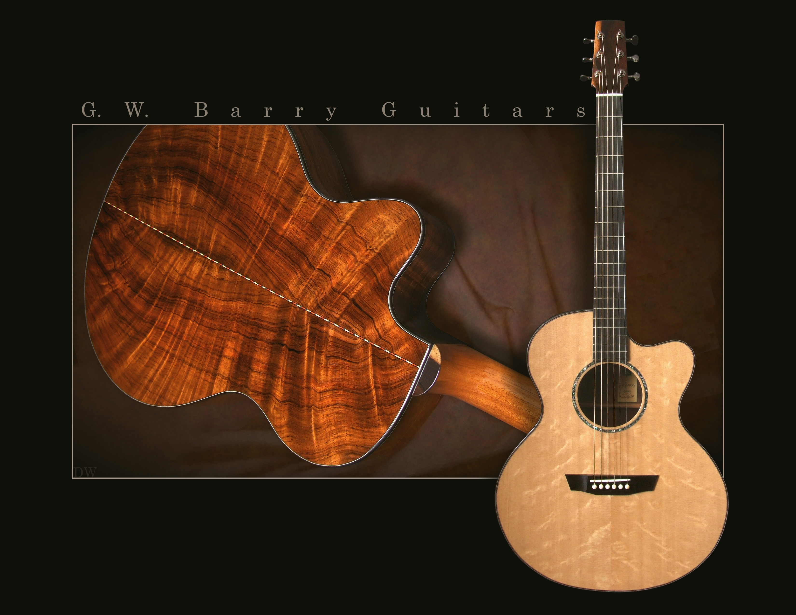 G. W. Barry Hand Built Guitars Brazilian Concert Guitar