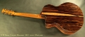 G. W. Barry Hand Built Guitars Macassar Rear View