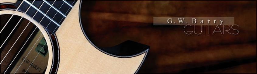 G W Barry Hand Built Guitars Header Venetian Cutaway