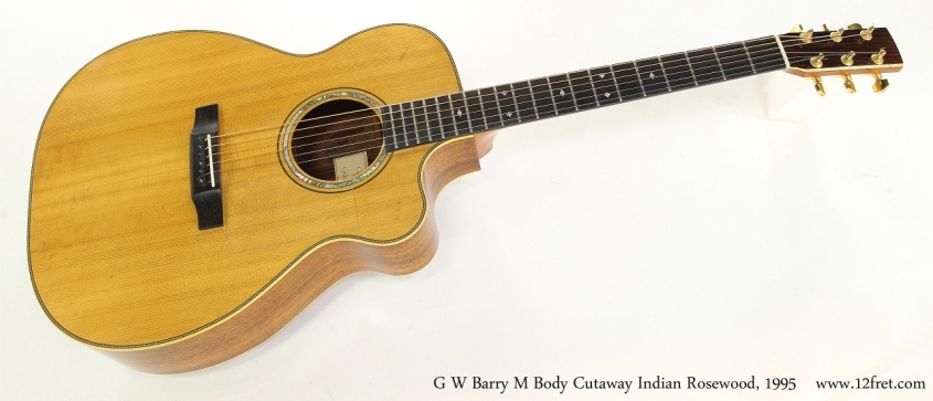 G W Barry M Body Cutaway Indian Rosewood, 1995  Full Front View