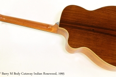 G W Barry M Body Cutaway Indian Rosewood, 1995   Full Rear View