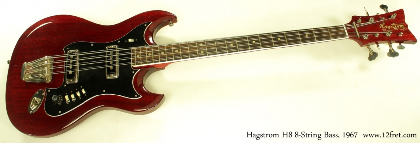 Hagstrom H8 8-String Bass 1967 full front view