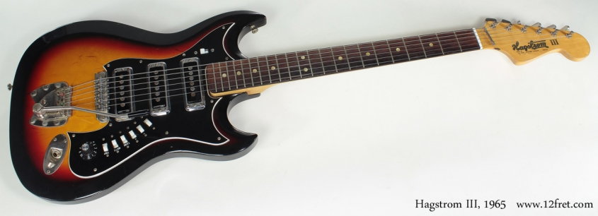 Hagstrom III 1965 full front view