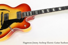 Hagstrom Jimmy Archtop Electric Guitar Sunburst, 1977   Full Front View