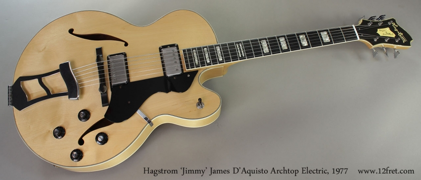 Hagstrom 'Jimmy' James D'Aquisto Archtop Electric, 1977 Full Front View