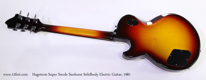 Hagstrom Super Swede Sunburst Solidbody Electric Guitar, 1981 Full Rear View