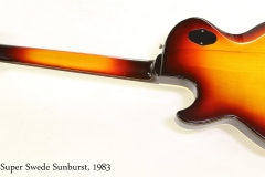 Hagstrom Super Swede Sunburst, 1983    Full Rear View