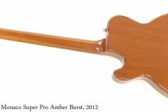 Hamer Monaco Super Pro Amber Burst, 2012 Full Rear View