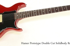 Hamer Prototype Double Cut Solidbody Red, 1981 Full Front View