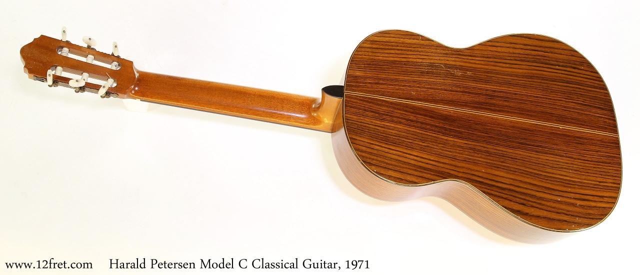 Harald Petersen Model C Classical Guitar, 1971   Full Rear View