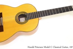 Harald Petersen Model C Classical Guitar, 1971   Full Front View