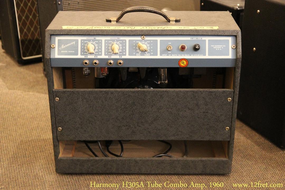 Harmony H305A Tube Combo Amp, 1960 Full Rear View