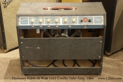 Harmony H306 18 Watt 1x12 Combo Tube Amp, 1964   Full Rear View