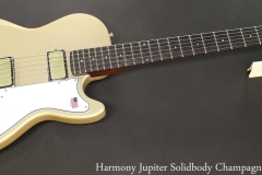 Harmony Jupiter Solidbody Champagne Finish Full Front View