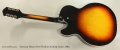 Harmony Meteor H70 Thinline Archtop Guitar, 1963 Full Front View