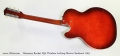 Harmony Rocket H54 Thinline Archtop Electric Sunburst 1965 Full Rear View