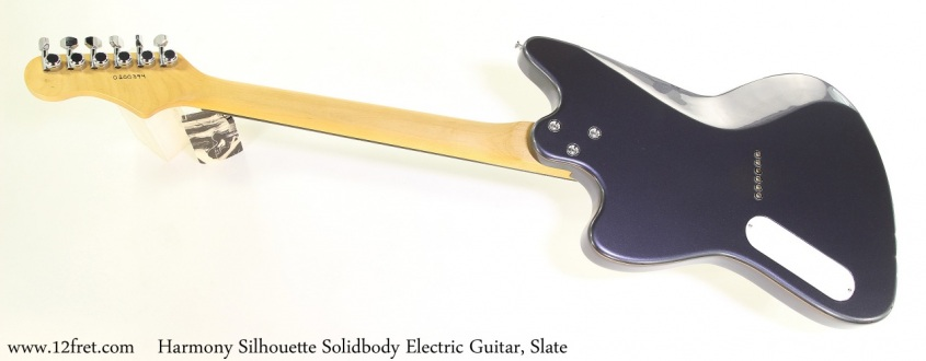 Harmony Silhouette Solidbody Electric Guitar, Slate Full Rear View