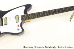 Harmony Silhouette Solidbody Electric Guitar, Slate Full Front View