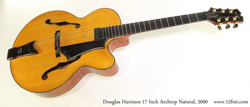 Harrison 17 Inch Archtop Natural, 2000 Full Front View