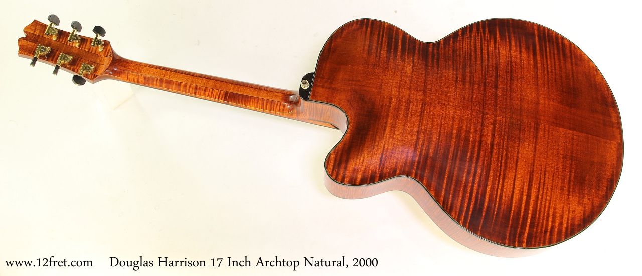 Harrison 17 Inch Archtop Natural, 2000 Full Rear View