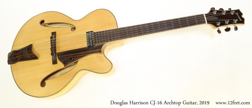 Douglas Harrison CJ-16 Archtop Guitar, 2019 Full Front View