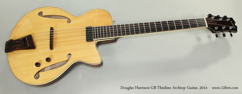 Douglas Harrison GB Thinline Archtop Guitar, 2014 Full Front View