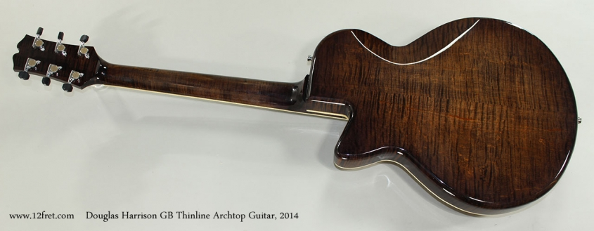 Douglas Harrison GB Thinline Archtop Guitar, 2014 Full Rear View