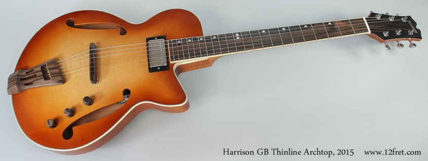 Harrison GB Thinline Archtop, 2015 Full Front View