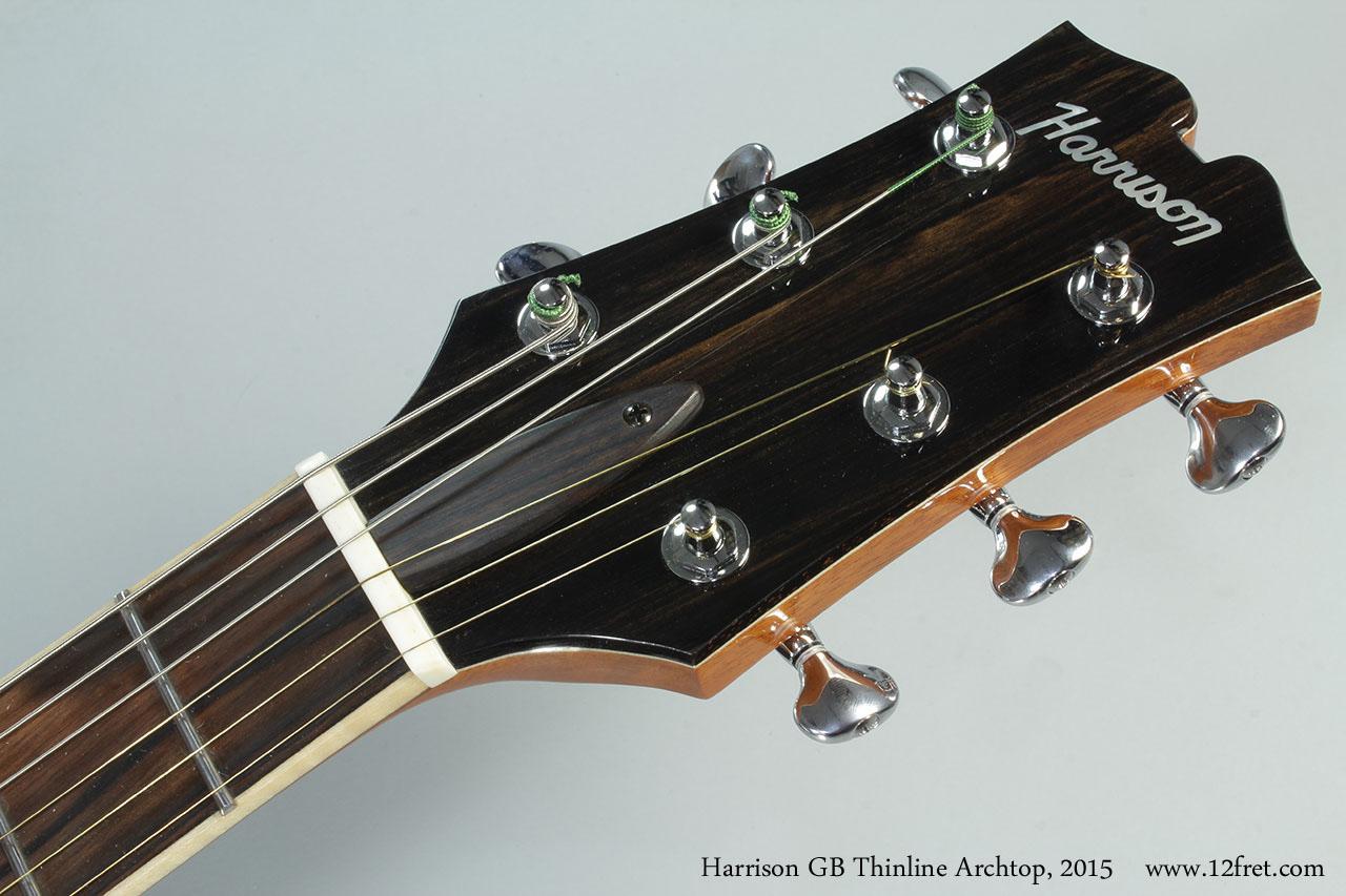 Harrison GB Thinline Archtop, 2015 Head Front