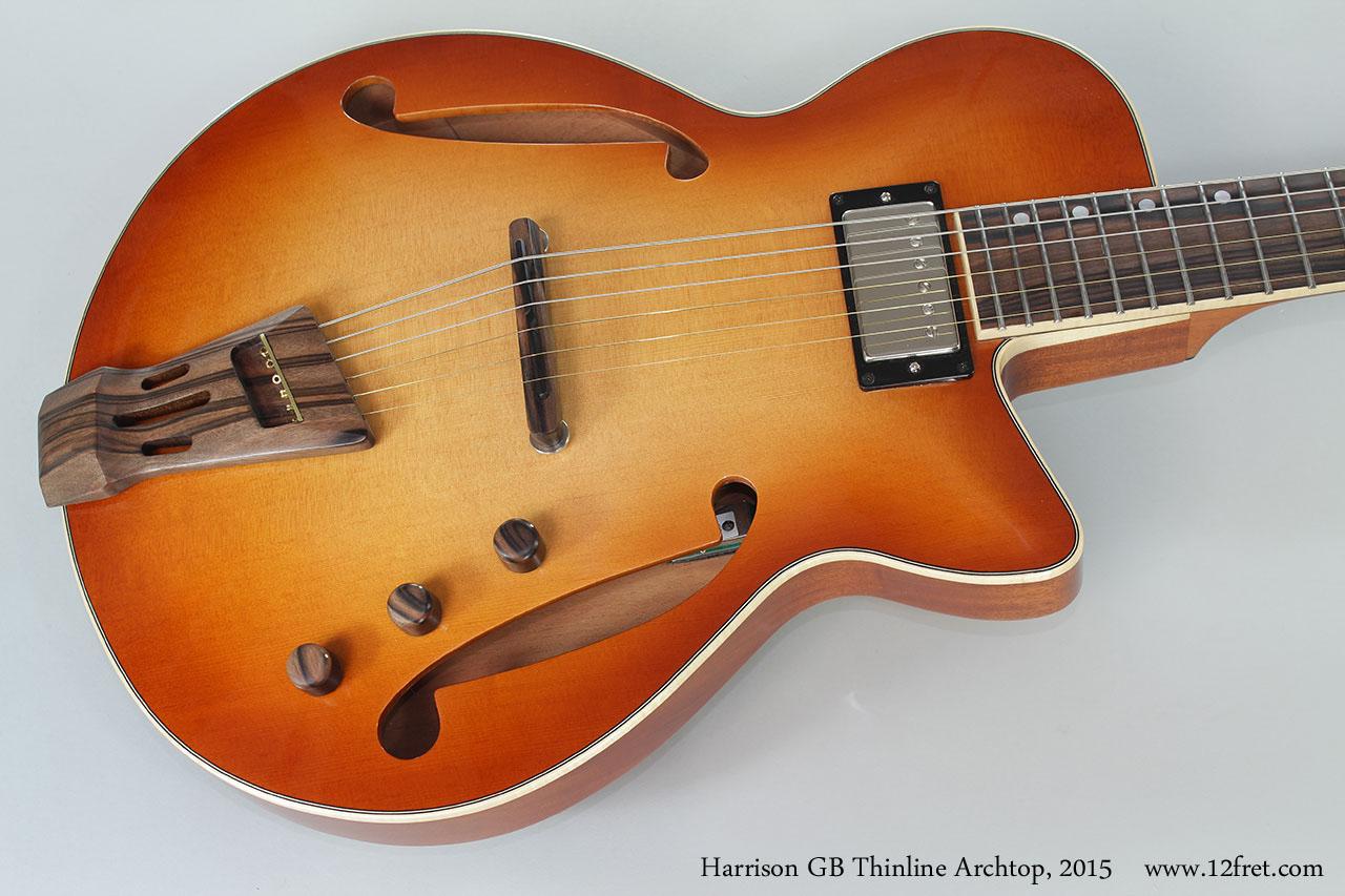 2015 harrison gb custom thinline archtop guitar. Black Bedroom Furniture Sets. Home Design Ideas