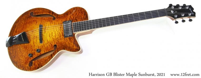 Harrison GB Blister Maple Sunburst, 2021 Full Front View