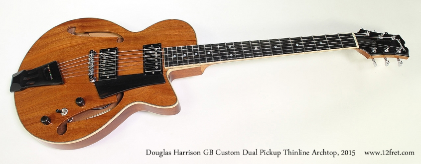 Douglas Harrison GB Custom Dual Pickup Thinline Archtop, 2015 Full Front View
