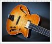 Douglas Harrison GB Custom Blister Maple Thinline Archtop Electric, 2015 Front Oblique