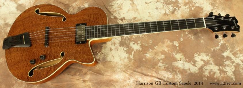 Harrison GB Custom Sapele Pommelle 2013 full front view